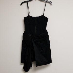 Alice + Olivia Black Bustier Mini Dress